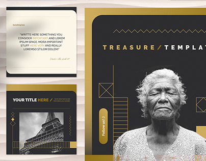 Treasure Social Media Templates