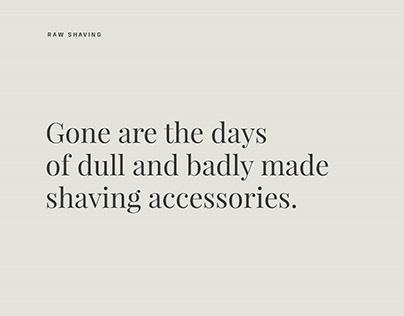 Raw Shaving - Website