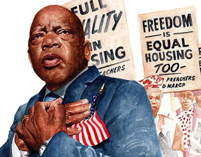 Homage to the Civil Rights Legend John Lewis