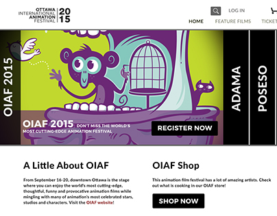 Ottawa International Animation Festival E-commerce site