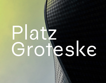 fj Platz Groteske™ typeface