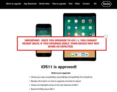 iOS11 Corporate Launch site