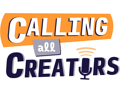 Calling All Creators Podcast Logo Design