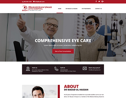 Eye Hospital Website Design and Development