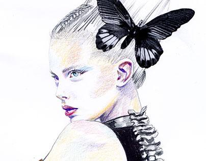 Fashion Illustration/AlexanderMCQueen