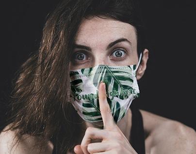 Free Face Mask PSD Mockup