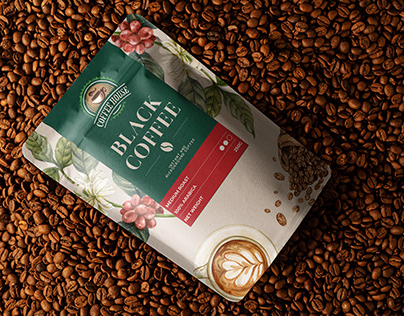 packaging design for coffee packet.