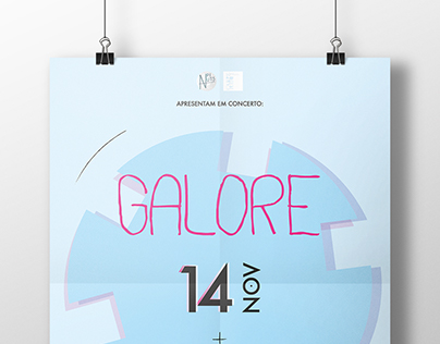 Galore (concert) + Phizz (dj set) // poster