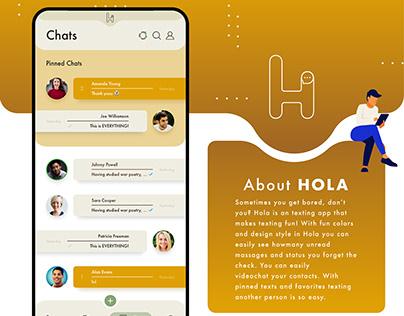 Hola, Chat App Ui/Ux Design