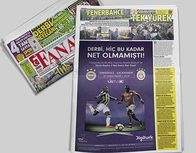Digiturk Derby Newspaper Ads
