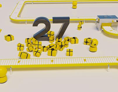 Yelobank 27 years birthday 3D motion