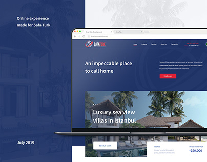 Safa Turk Real Estate Website