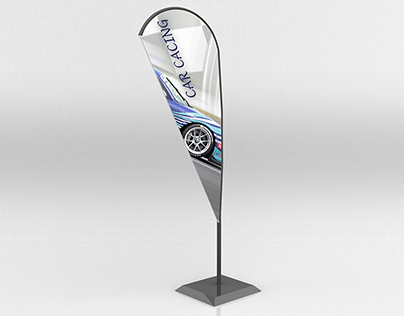 Flying/feather Flag Mockup
