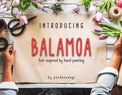 Balamoa Font inspired by hand painting (FREE Download)