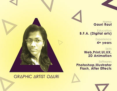 About Me - Graphic Artist Gauri