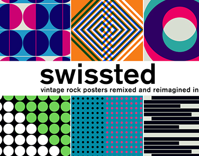 SWISSTED / Rock posters remixed in motion graphic