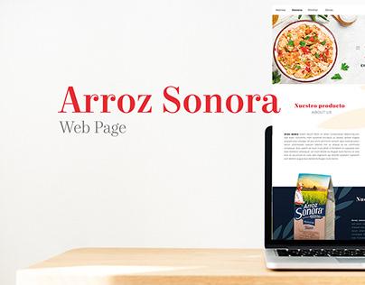 Diseño Web . Arroz Sonora