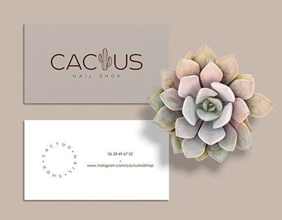 Cactus nail shop - Brand design