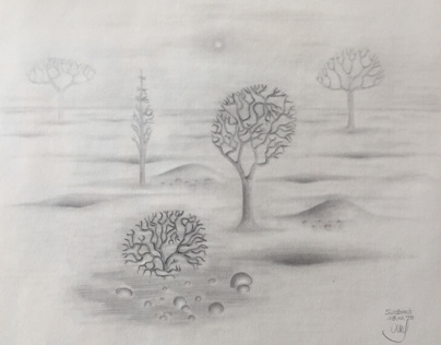 Pencil Drawing Trees 2