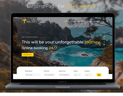 Travel Agency. Landing Page