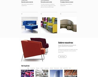 Web para marca de sofás y butacas de diseño