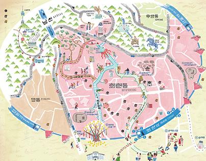 남촌선비와 남산옛길을 거닐다 seoul gung-gu map