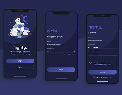 Mobile Login/Sign up UI