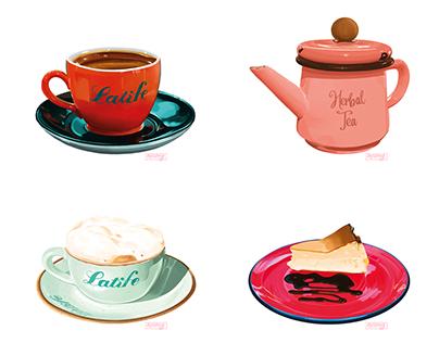 Coffee Sticker Illustrations