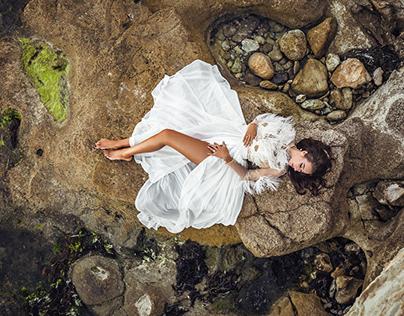CREAM OSTRICH BODYSUIT by MAISON LEMILA
