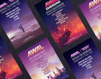AWAL Showcase Posters