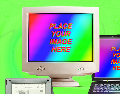Old Komputer Mockups (FREE)