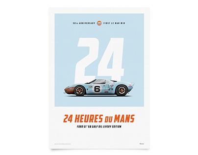 Ford GT Le Mans 50th Anniversary-First Le Mans win post