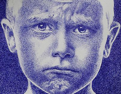 W.I.P. Ballpoint pen portrait