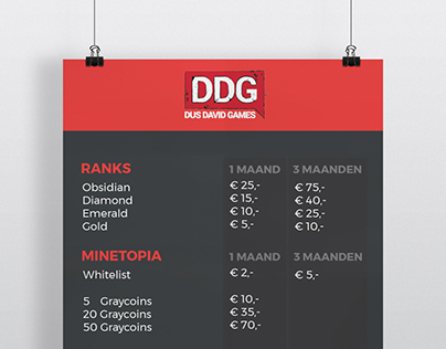 DDGEvent - Pricelist & Redeem Voucher Design