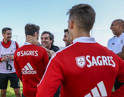 Jonas visitou o Benfica Campus