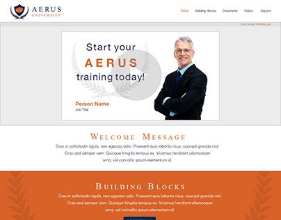 Aerus University Website