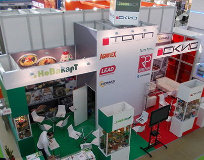 Design of the exhibition stand company Novakart
