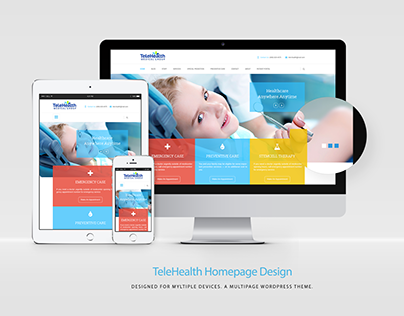 TeleHealth Homepage Design