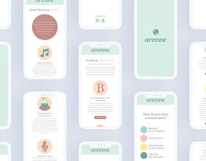 Arenne App Design