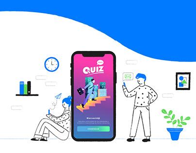 Landing page y ilustraciones - Quiz App