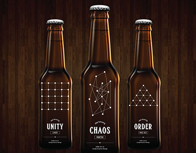 Order | Chaos | Unity - Beer label design