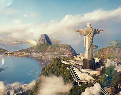 Christ The Redeemer - Wihout Borders Hum3d-OTOY Choice