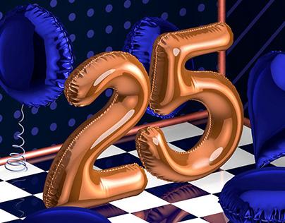 25 Design | Logo 3D Animation
