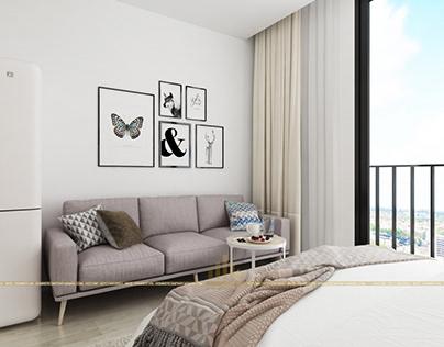 Thiết kế nội thất chung cư GreenBay - Chị Quỳnh Anh