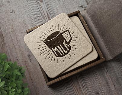 Milk cafe logo