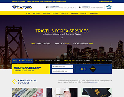 Forex Homepage Design