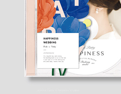 Pass happiness / Wedding album design