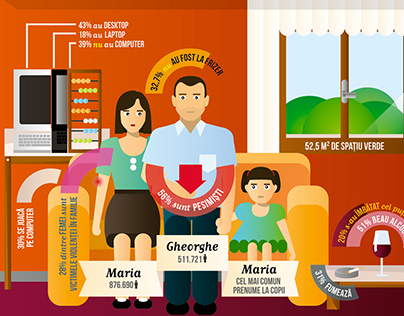 The Romanian Family // Infographic