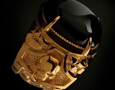 Skull ring, Gold skull ring - Tyvodar .com