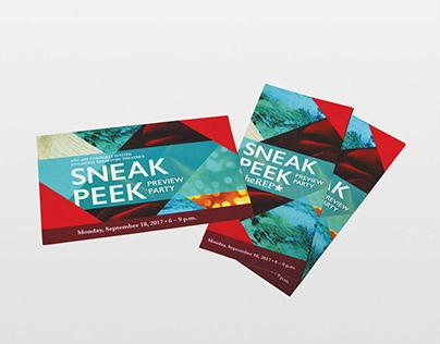 Sneak Peek Party Invite & Program